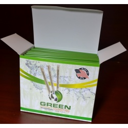 "1000 Pcs - Green Cold Drink Stirrers, 100% Compostable, Made in USA,5.75""  Long"